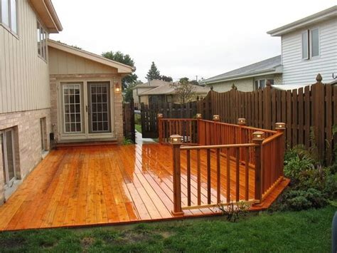 Backyard Deck Ideas Ground Level Ground Level Deck Ideas For The Backyard