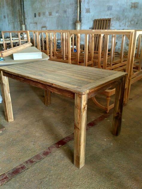 Meja Makan Jati Bekas mebel kayu jati bekas recycle model minimalis yang ramah lingkungan