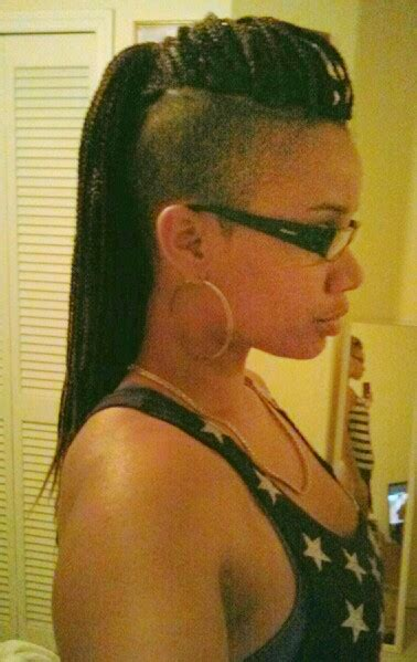 micro braids with shaved sides braids with shaved sides hair pinterest shaved sides