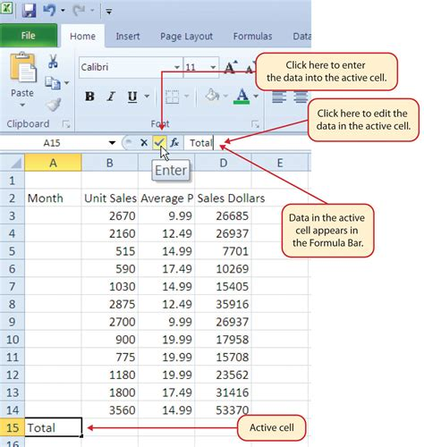 how to use microsoft excel to manage your life entering editing and managing data