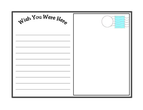sparklebox postcard template blank postcard template for kids 134076 professional and
