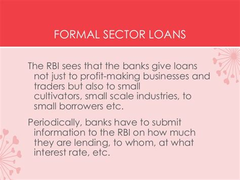 Overview Of Formal Sector Credit In India Formal Sector Credit In India