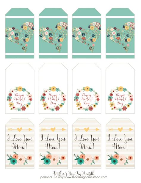 free printable gift tags mothers day mother s day printable gift tags blooming homestead