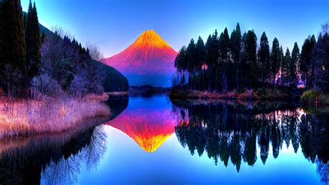 Twitter Color Hdr Landscapes Mountains Volcano Trees Forest Color