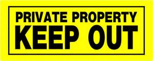 The hillman group 6 x 15 quot plastic private property keep out sign