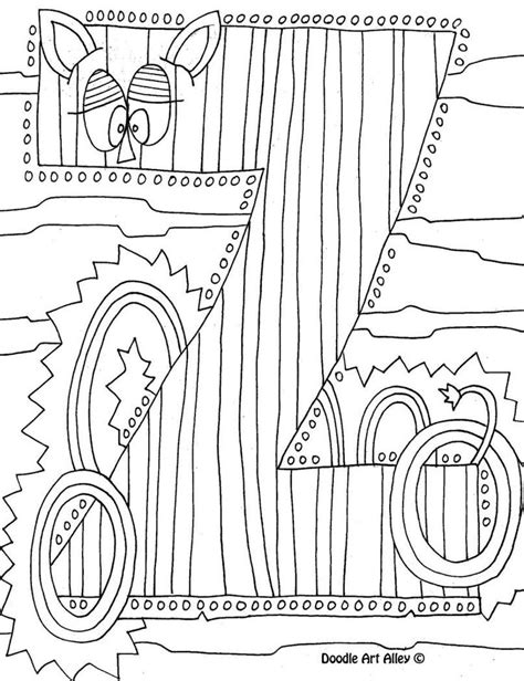 Letter Coloring Pages Doodle Art Alley Printables Doodle Alley Coloring Pages