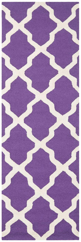 Purple Area Rugs Contemporary Safavieh Cambridge Purple Ivory Wool Contemporary Area Rug Cam121k