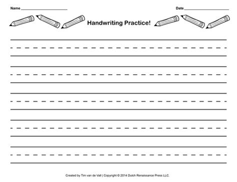 handwriting templates for grade free handwriting practice paper for blank pdf templates