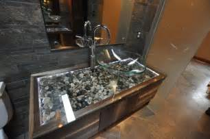 river rock bathroom ideas love ther river rock vanity gave me goosebumps