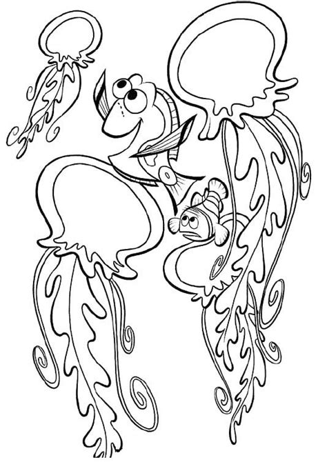 nemo jellyfish coloring pages πάνω από 25 κορυφαίες ιδέες για finding nemo free online