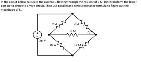 find current flowing through resistor in the circuit below calculate the current i0 flow chegg