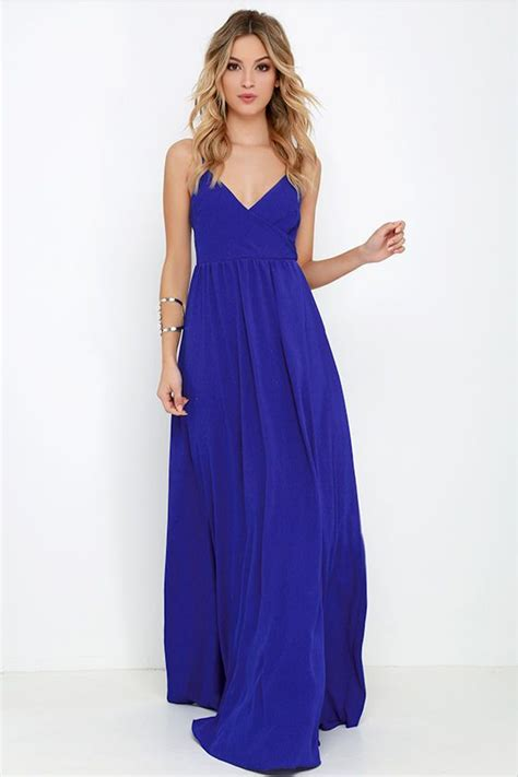 Dress Wanita Maxi Royal Balotelly on the silver screen royal blue maxi dress blue maxi