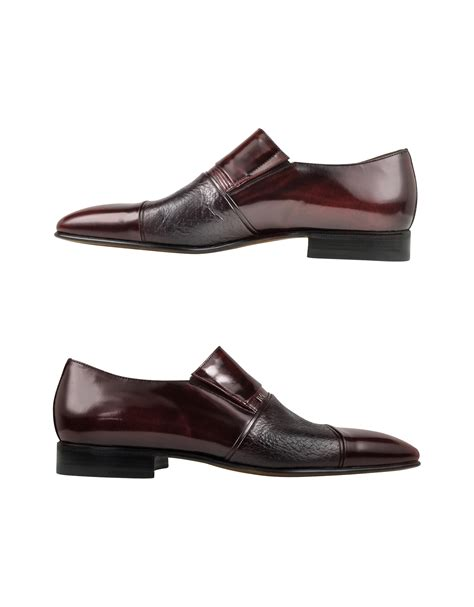 moreschi loafers moreschi lugano burgundy leather loafer in purple for