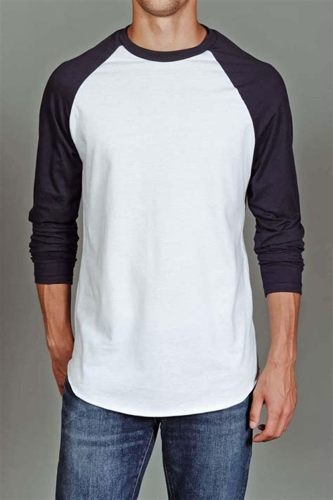 Kaos Baju Create Future us blanks s baseball raglan white navy for him
