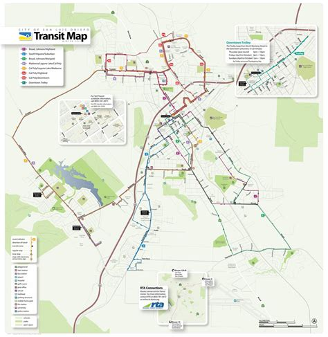 cal poly cus map san luis obispo city transit maplets