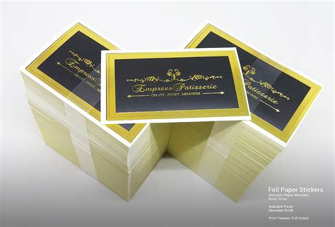 printable clear sticker paper singapore customised printed foil paper stickers in singapore