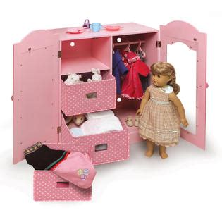 badger doll armoire badger basket pink mirrored doll armoire with 3 baskets