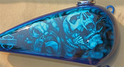airbrushed motocross custom motorcycle tanks by the beginning custom
