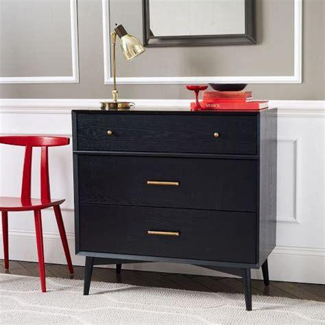 modern 3 drawer dresser west elm mid century 3 drawer dresser black west elm