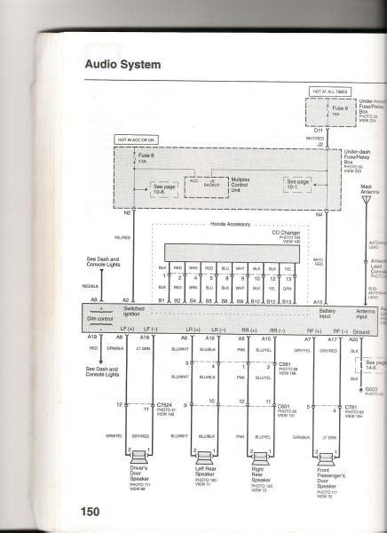 civic  stereo wiring diagram