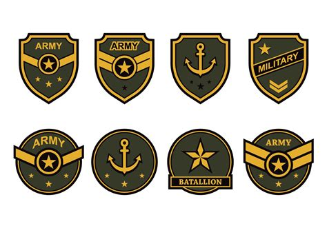 Free Army Emblem Vector Free Vector Stock
