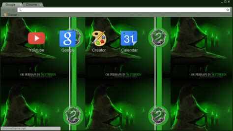 theme chrome harry potter slytherin harry potter chrome theme themebeta