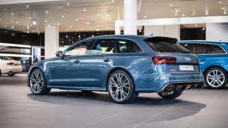 polar blue metallic audi rs6 performance by audi exclusive