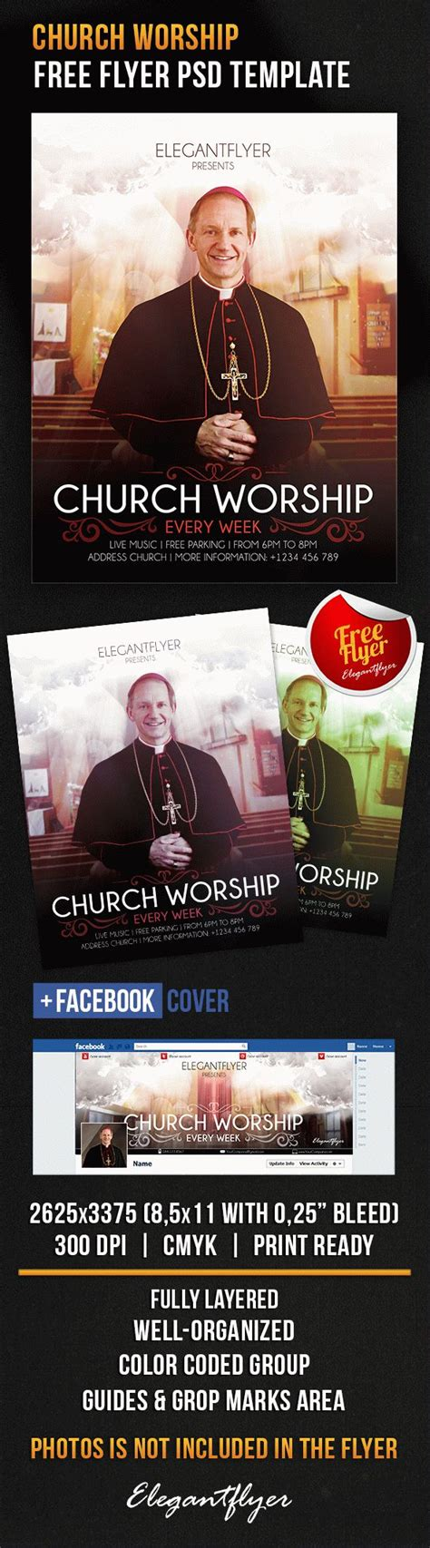 Free Photoshop Flyer Template Church Worship Facebook Cover Flyershitter Com Free Church Flyer Templates Photoshop