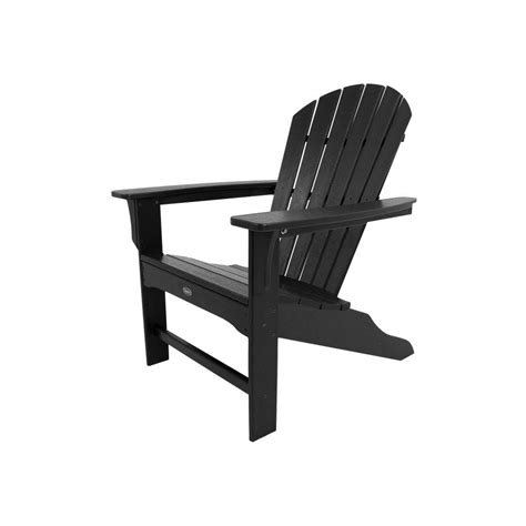black adirondack chairs home depot trex outdoor furniture cape cod charcoal black plastic