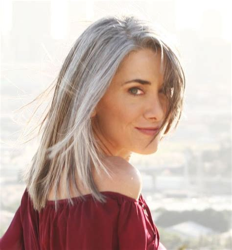 gray hairstyles in young women gray hair beautiful long gray hair style pictures