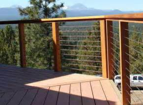 Patio Handrail by Deck Patio Porch Balcony Cable Railing Modern Deck