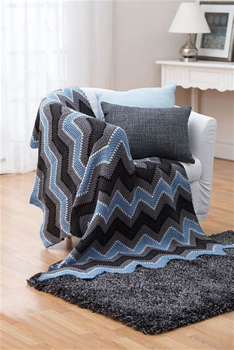 mary maxim free easy zigzag afghan knit pattern ravelry winter zig zag afghan pattern by bernat design