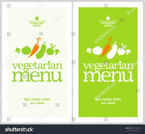 template for menu card design restaurant vegetarian menu cards design template stock