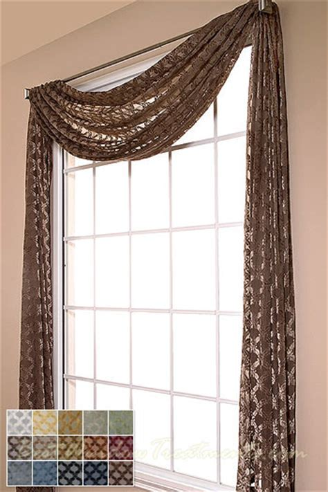 Diva Diamond Semi Sheer Scarf Swag Window Topper available