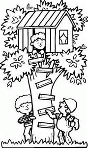playing treehouse free printable coloring pages