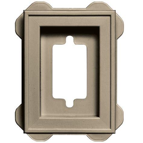Outdoor Lighting Mounting Blocks Builders Edge 4 5 In X 6 3125 In 013 Light Almond Raised Mini Mounting Block 130130001013