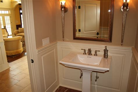 wainscot in bathroom custom wainscoting bathroom picture ideas
