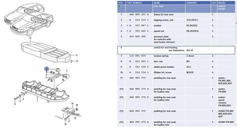 audi a4 power seat wiring diagram 28 images repair