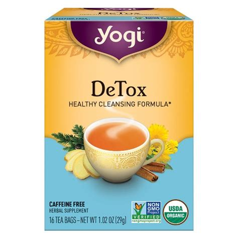 Herbal Medicine Detox Tea by Yogi Detox Organic Herbal Tea 16 Ct Target