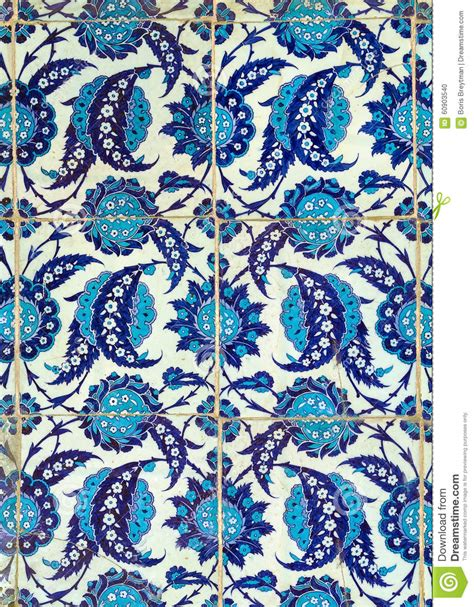 Ottoman Tiles Turkish Ceramic Tiles Istanbul Stock Photo Image Of