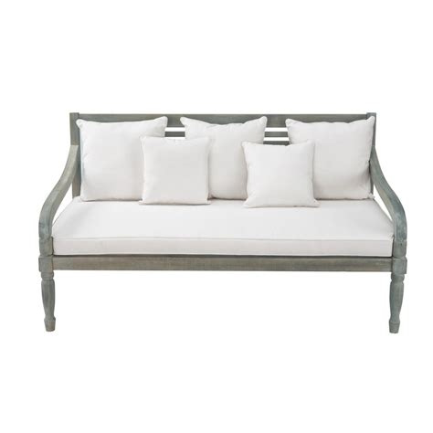 3 seat bench 3 seater acacia garden bench seat in grey chypre maisons