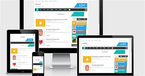 responsive templates for android minima responsive template khusus blog personal kompi