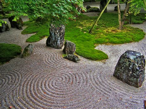 The Japanese Rock Garden Or Zen Garden Creates A Rock Garden Zen