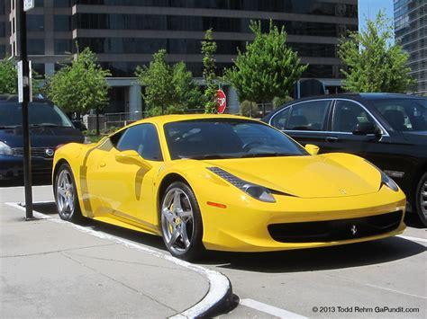 ferrari yellow 458 supercar sunday yellow ferrari 458 italia in buckhead