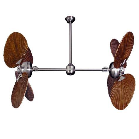 twin star ii double ceiling fan twin star ii dual motor ceiling fan with solid wood carved