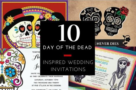 Day Of The Dead Wedding Invitations