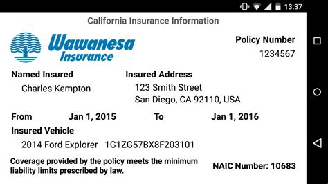 Wawanesa Mobile Android Apps On Google Play Nationwide Insurance Card Template