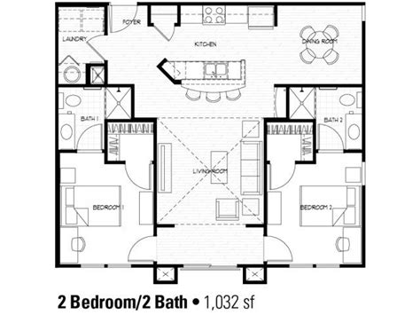 Two Bedroom House Plans by Best 25 2 Bedroom House Plans Ideas That You Will Like On