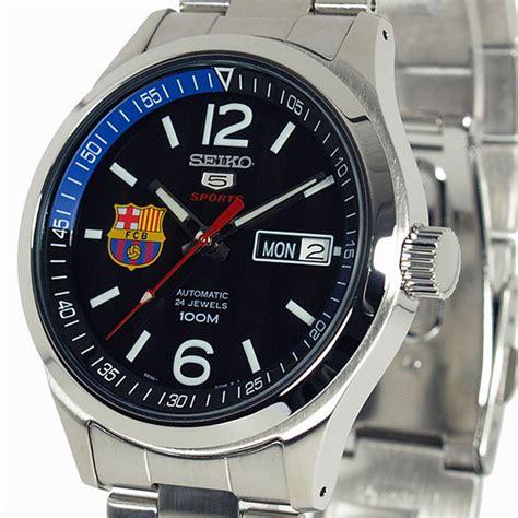 Jam Tangan Seiko 5 Srp303k1 Sports Barcelona Blue Canvas seiko 5 barcelona sports srp301k1 automatic black