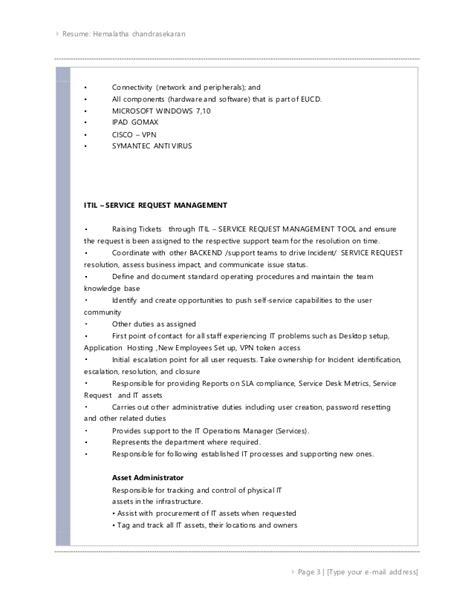 N Chandrasekaran Resume by Hemalatha Chandrasekaran Mba 8 Yrs Experience Banking
